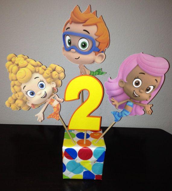 Bubble Guppies Centerpiece Picks - 4 Pieces