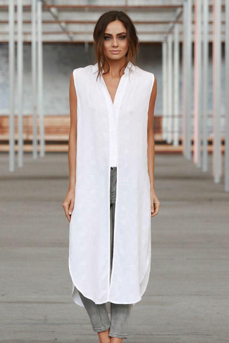 Madison Square - Empire Long Shirt - White