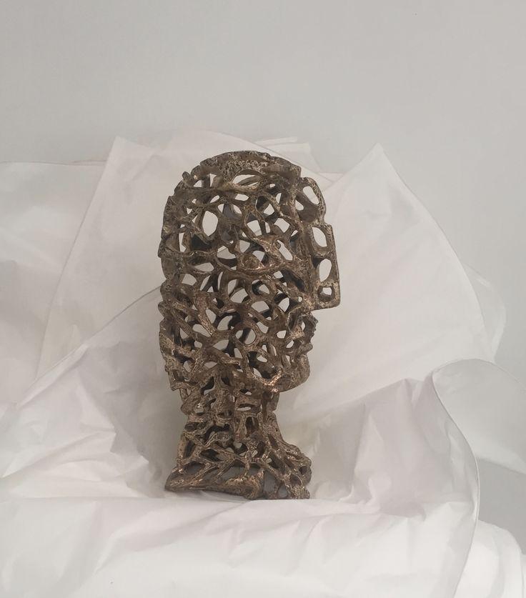 Masque de fer (bronze 2016) Ferdinand Banza