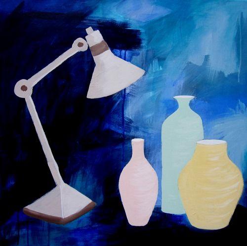 Lamp and jars af Gitte Valentiner Branth