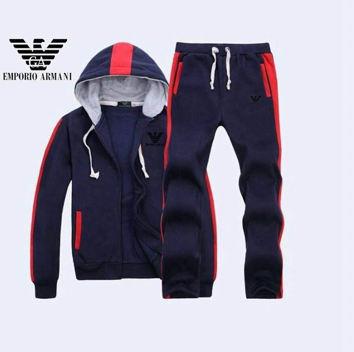 Armani Men Tracksuit Casual Sportswear Outdoor Autumn Long Sleeve  Sweatshirts Zi  44d4b3dca93