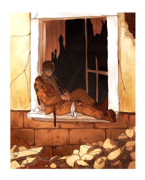 Oh no, Alfred is injured! Don't worry Alfred! The fangirls are on there way to rescue you!