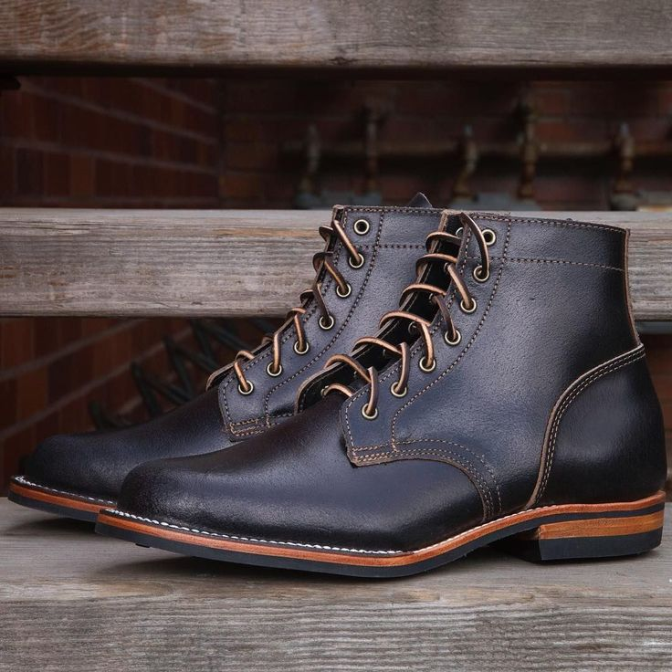 Truman Boot Co. Black Waxed Flesh Front Range Boots. Photo from Canoe Club #boots… - http://sorihe.com/mensshoes/2018/02/24/truman-boot-co-black-waxed-flesh-front-range-boots-photo-from-canoe-club-boots/