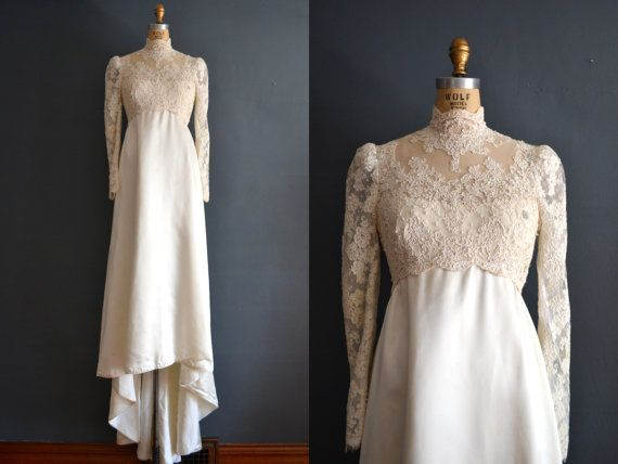 vintage wedding dress / lace wedding dress / by BreanneFaouzi, $122.00