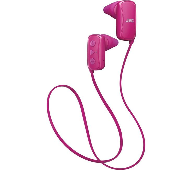 BLUE JVC  HA-F250BT-PE Wireless Bluetooth Headphones - Pink, Pink Price: £ 39.99 Top features: - Wireless in-ear headphones with a sweat resistant design for sports - Choice of eartip fit so you can find the most comfortable size - Up to seven hours' battery life from one charge so you can keep listening Wireless sports headphones Focus on your workout without being limited by a headphone...