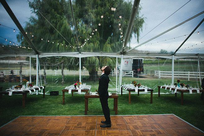large clear tent