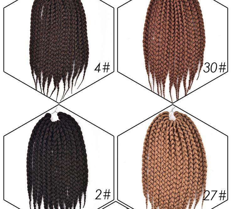 "12'' 18"" 22"" Crochet Braids Box Braids Hair Extensions 12 Roots 3S Crochet Box Braiding Twist Hair Jumbo Crochet Hair for Women"