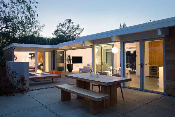 Open Eichler Home Renovation | Architektur, Leben Unter Freiem ...