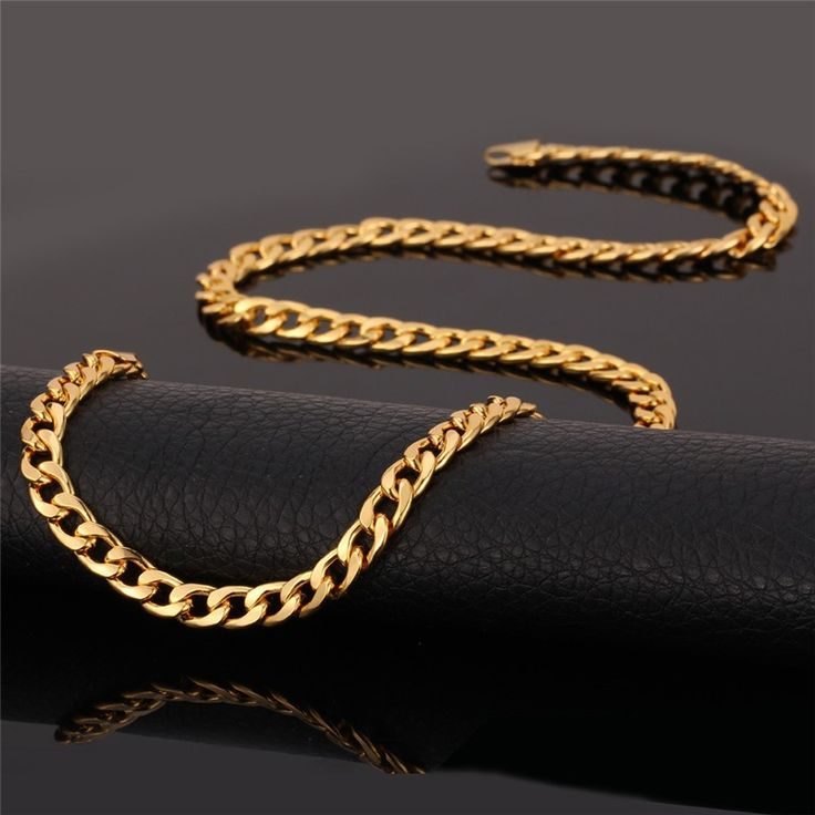 14kt Yellow Gold Cuban Concave Chain 3.2 mm Width 7.0 Inch Long (2.7 Grams) by RG&D