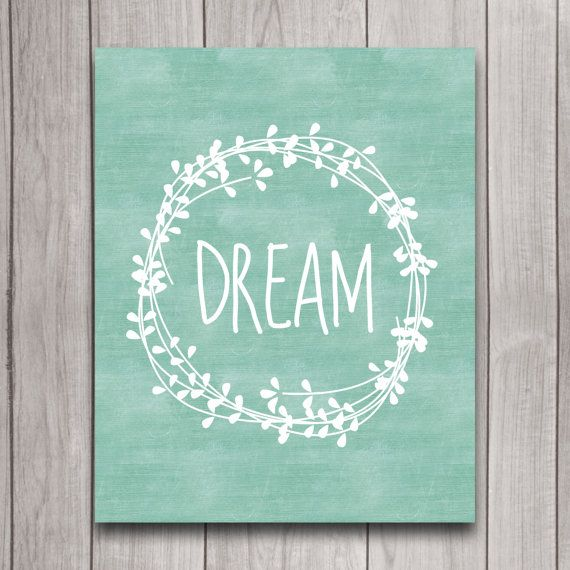 Dream Mint Nursery Wall Art Inspirational door INVITEDbyAudriana