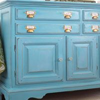 Furniture Makeover using Turquoise DIY chalk paint