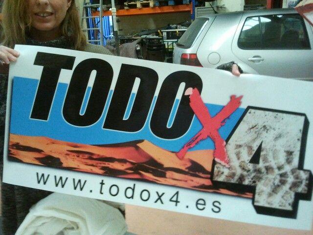 Todox4 pegatina grande impreso transparente