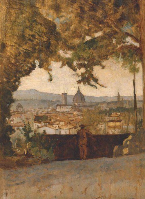 doardo Borrani Vista di Firenze da Montughi