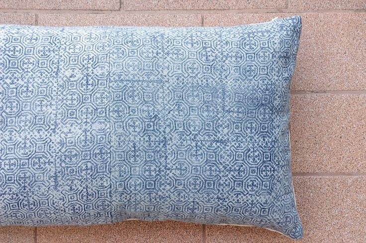 Boho Bohemian Rare Vintage HMONG Textile Batik Hand dyed Embroidered Ethnic Textile Blue Navy Nautical Pillow Case 1PB by Tshaj on Etsy https://www.etsy.com/listing/472563648/boho-bohemian-rare-vintage-hmong-textile