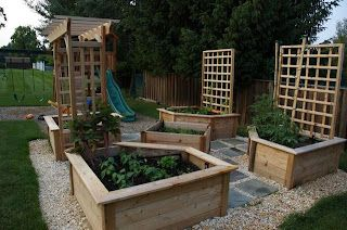 raised flower beds - love the idea of not straining my back to get fresh veggies