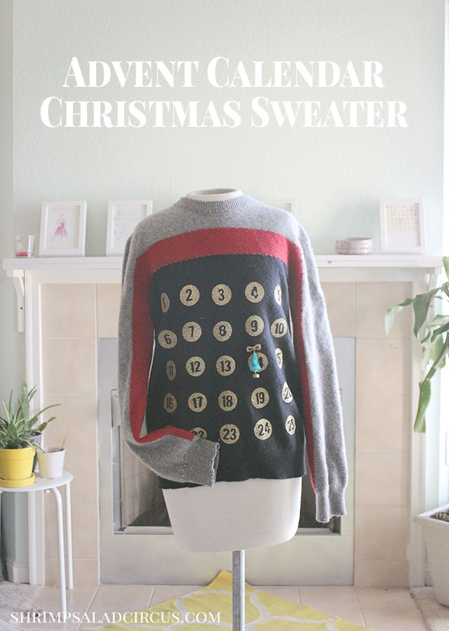 Advent Calendar Christmas Sweater by @shrimpsaladcircus