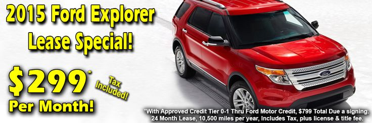 Ford Explorer Lease Deal at Lasco Ford | April 2015