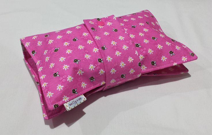 Ready To Post Nappy Wallet and Travel Change Mat Babyshower Gift set - Pink Bee by MattynMe on Etsy