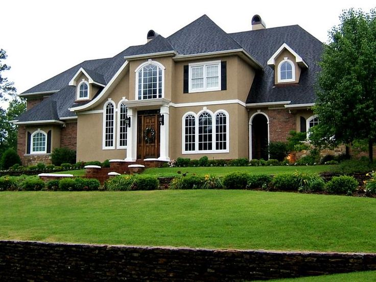 Exterior Colors For Houses #18: Brown White U0026middot; Exterior House ...
