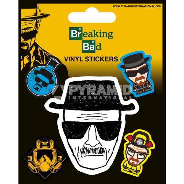 Pack de 5 Stickers Heisenberg Breaking Bad
