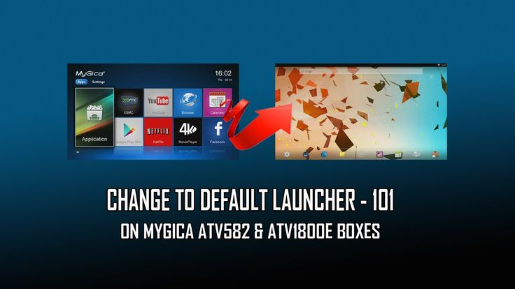Change To Default Launcher On MyGica ATV582 & ATV1800E