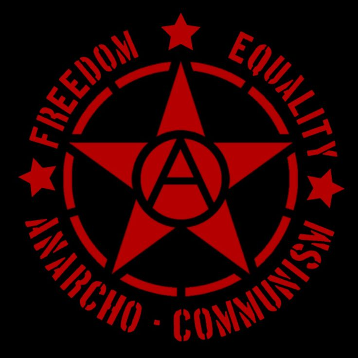 Image result for red and black flag of anarcho-communism