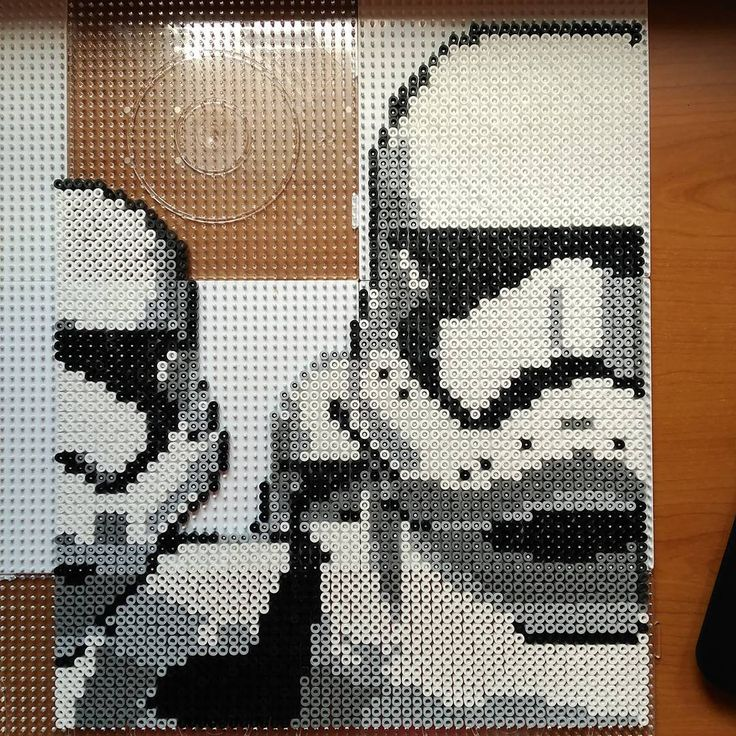 Fin!!!❤❤❤ #soldadoimperial #stormtrooper #starwars #HamaBeads #perler #Friki