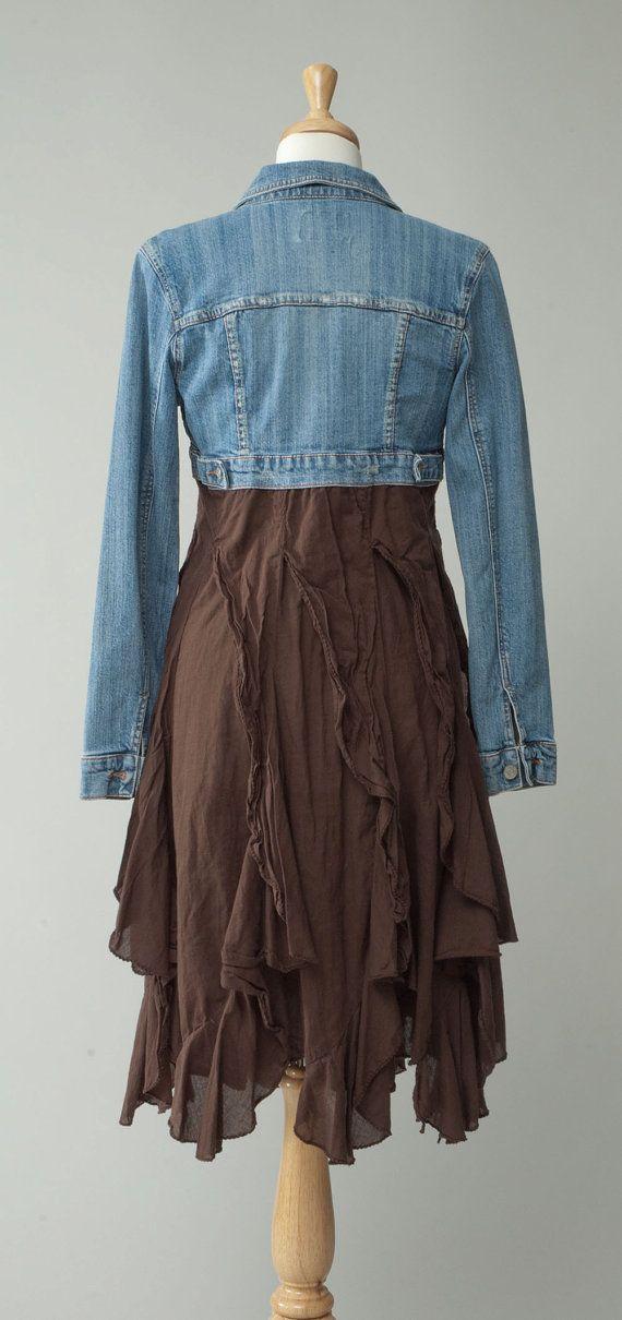 Issus de pays rétro vintage des femmes crop jean par redeuxclothing