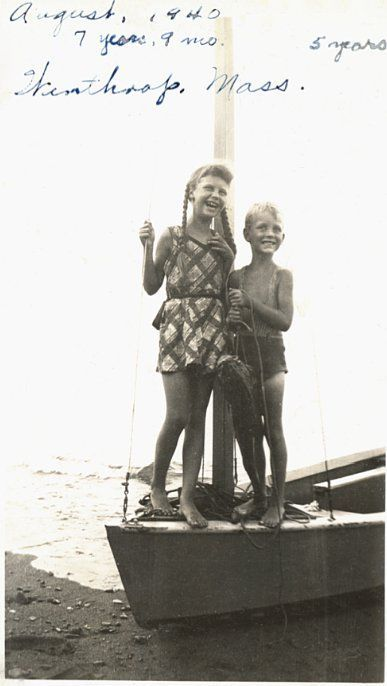 ♥ Loving Sylvia Plath ♥, Sylvia Plath and her brother Warren in Winthrop,...