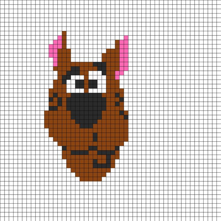 lots of patern can be used for brick or peyote stitch too  Scoobydoo Perler Bead Pattern | Bead Sprites | Characters Fuse Bead Patterns
