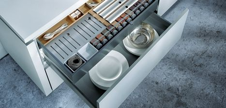Does your kitchen need organising? Next125 have great storage solutions   German Kitchens
