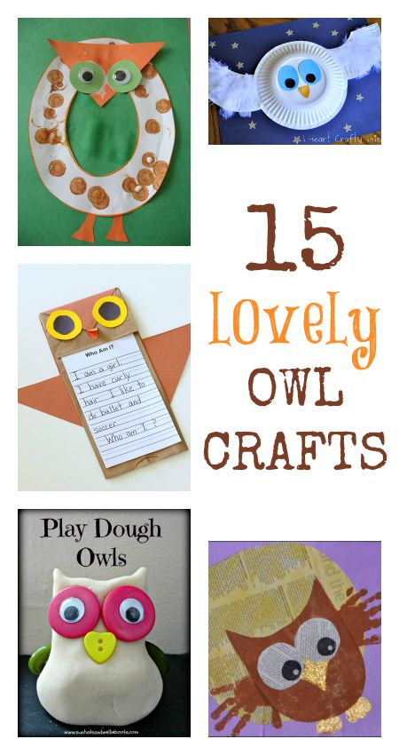 owl crafts for kids :: owl activities