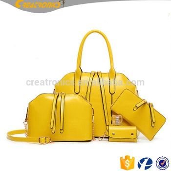 f277b857fc Cosmetic coin pocket with New trendy 4 pieces set ladies handbags wholesale