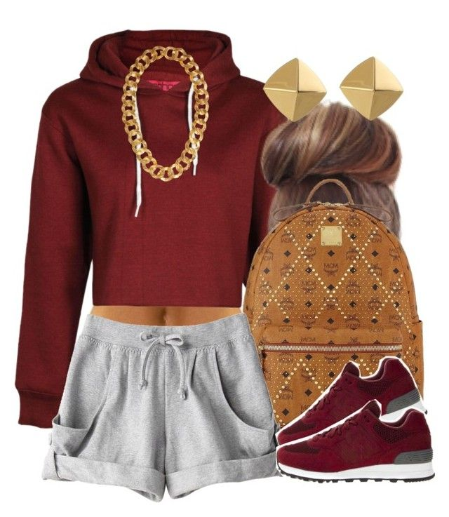 """""""Burgundy Overload."""" by livelifefreelyy ❤ liked on Polyvore featuring MCM, adidas, New Balance, Kenneth Jay Lane and Vince Camuto"""