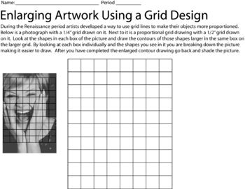 This is a worksheet where students can enlarge a picture using the grid system.  This a great worksheet for students to practice gridding before ac...