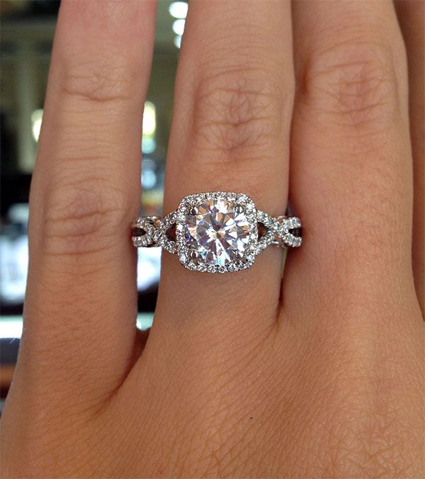 17 Best ideas about Square Halo Engagement Rings on Pinterest