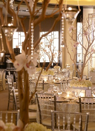 98 best wedding decorations images on pinterest weddings floral love tall branch centerpieces with twinkle lights or candles and a little bit of bling junglespirit Image collections