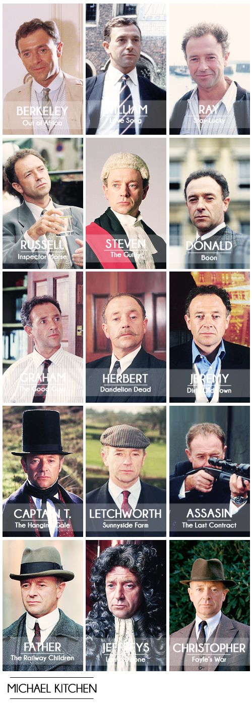 A collection of some of Michael Kitchen acting roles