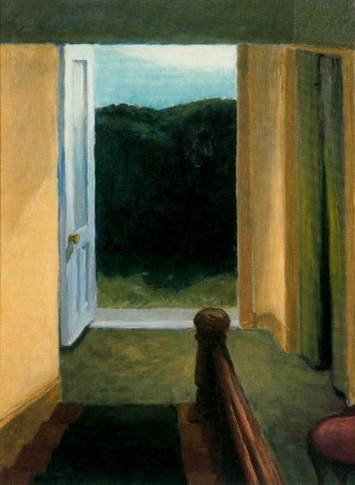 Edward Hopper, Stairway (1919). Oil on panel, 40,54 x 30,16 cm. The Whitney Museum of American Art, New York.