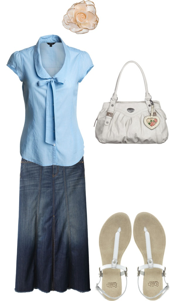 Top 64 ideas about Modest Summer Outfits on Pinterest | Blue jean skirts Church dresses and ...