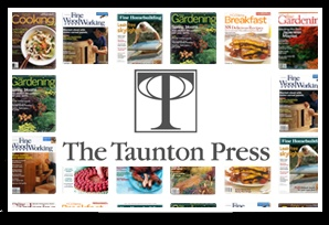 Searchable Publication Archives – Multiple Titles - Taunton Press  We worked with The Taunton Press to create compilations for five of its key publications, including Fine Woodworking, Fine Homebuilding, Fine Gardening, Fine Cooking and Threads. These DVDs enable Taunton to search through a series of articles that are chock full of proven tips, step-by-step techniques and vivid photographs.