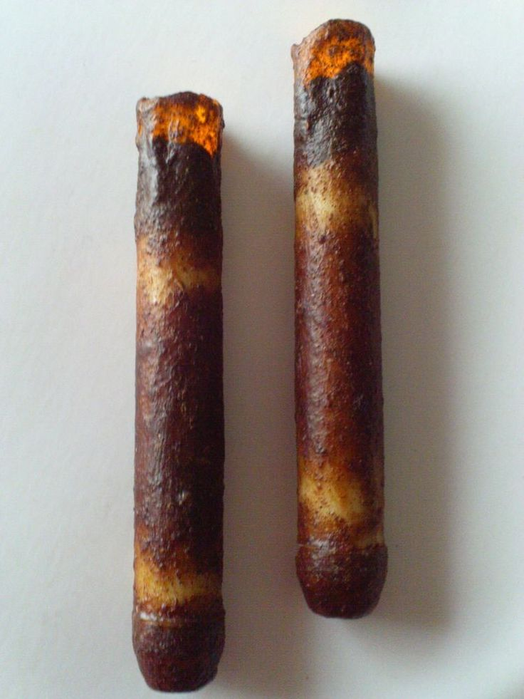 """2 - DRIP TIMER - 6"""" Burnt IVORY LED Taper Candle Primitive - Battery Operated #PRIMITIVECOUNTRYRUSTIC"""