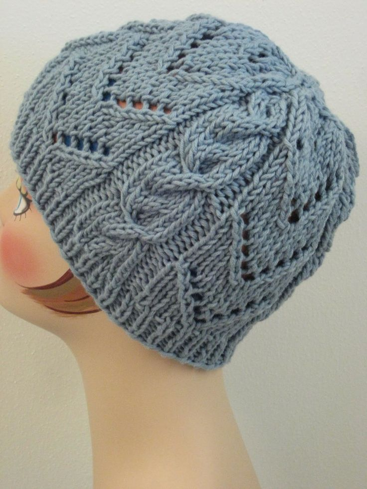Chevrons & Cables Hat: made with just over 100 yards of worsted weight ya...
