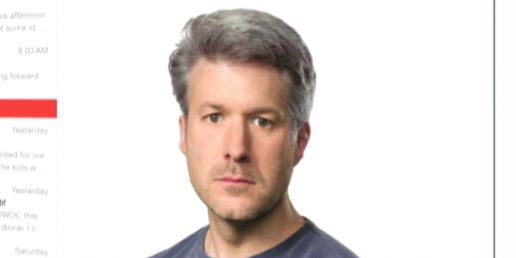 Here's That Picture of Apple's Jony Ive With A Full Head Of Hair, As Photoshopped By Craig Federighi | by Steven Tweedie Jun. 2, 2014 ::: Apple's Jony Ive received a new haircut at this year's WWDC. Read more: http://www.businessinsider.com/photo-apple-jony-ive-hair-photoshopped-by-craig-federighi-2014-6#ixzz34Aj0fE3A