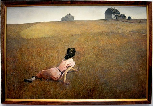 Andrew Wyeth 'Christina's World' (1948) Museum of Modern Art (MoMA), NYC by Plum leaves, via Flickr