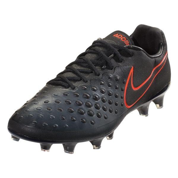 Nike Magista Opus II FG Soccer Cleat (Black/Black/Total Crimson)