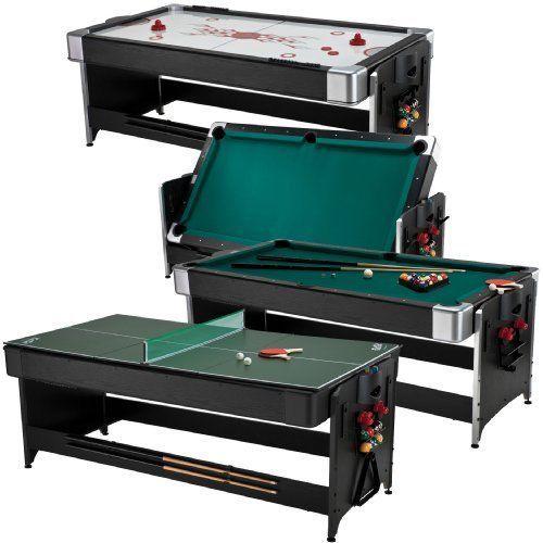 Original 3 In 1 Fat Cat 7' Gaming Table Billiard Pool Air Hokey Ping Pong Tennis