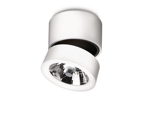 Deze Lirio Tubiz-spot heeft een origineel ontwerp en een unieke uitstraling. Richt het licht op elementen die u wilt accenturen met warm wit halogeenlicht. Wit aluminium met zwarte accenten maakt dit moderne ontwerp af.