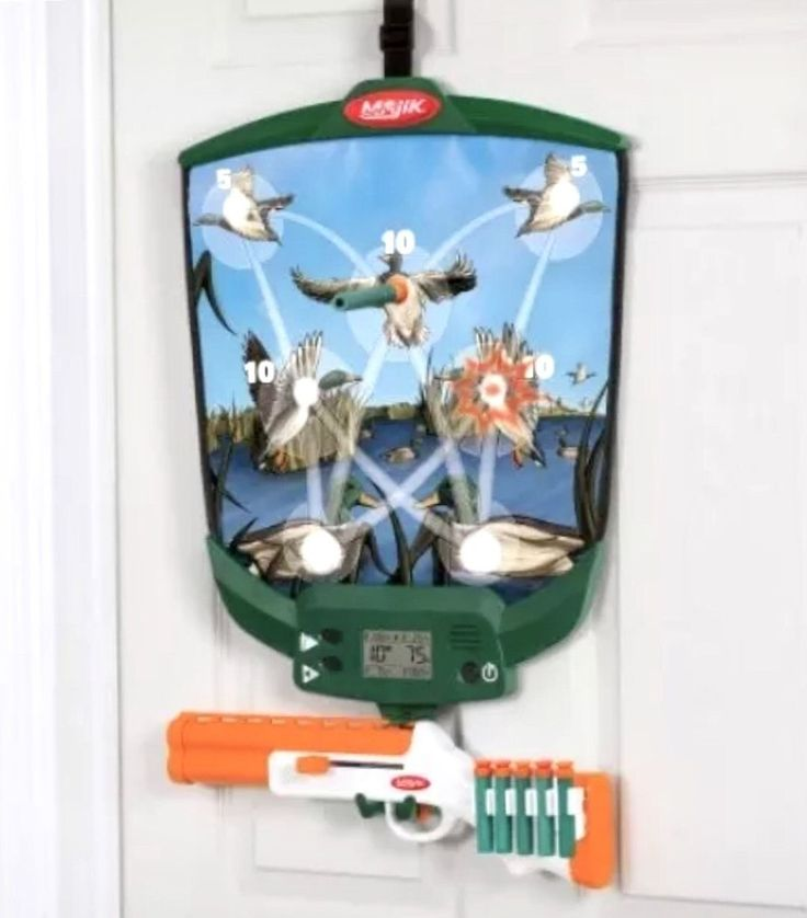 Duck Hunting Game... found at  http://keywebco.myshopify.com/products/duck-hunting-game-majik-over-the-door-shooting-soft-dart-target-new?utm_campaign=social_autopilot&utm_source=pin&utm_medium=pin