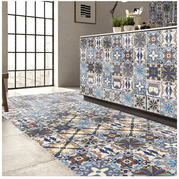 25Pcs Self Adhesive Bohemia Simulation Ceramic Tiles DIY Kitchen Bathroom Wall Decal Sticker is Solid-NewChic Mobile.
